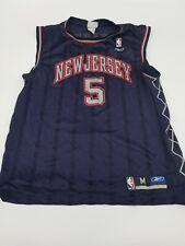Vintage New Jersey Nets Jason Kidd Reebok Throwback Jersey M Medium Rare