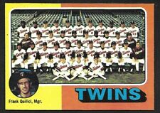 1975 TOPPS LARGE #443  MINNESOTA TWINS Team Card  ( Unmarked Boxes )  EX-MINT  B