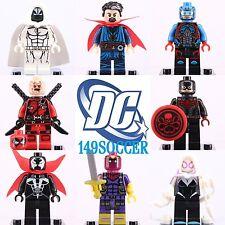 8pcs Superheroe Deadpool Gwen minifigures Custom Lego Figure Toy