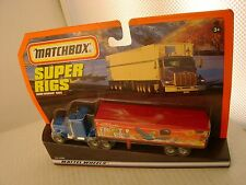 1998 MATCHBOX SUPER RIGS FROOT LOOPS KENWORTH AERODYNE TRUCK & TRAILER NEW MOC