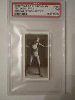 "1938 TED ""KID"" LEWIS BOXING CHURCHMAN PSA GRADED 7 NEAR MINT CARD"