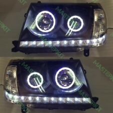 Headlights For Toyota LAND CRUISER 100 Head lamp LED BLACK Set 2pcs 06-07