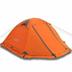 Flytop camping tent outdoor 3 people or 2 perons double layer aluminum pole anti