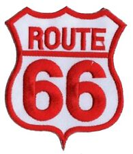 Patche écusson Route 66 rouge thermocollant transfert patch