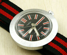 Ruhla ''UFO'' Round Brushed Satin Cased Mechanical Watch 41mm New Old Stock