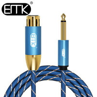 EMK 6.35mm1/4'' Male To 3Pins XLR Female Stereo Audio Cable Speaker AMP 3ft 6ft