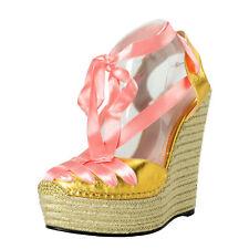 Gucci Women's Leather Wedges Sandals Shoes Sz 6.5 7 7.5 8 8.5 9 9.510.5 11