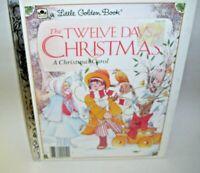 A Little Golden Book Twelve Days of Christmas A Christmas Carol 1983