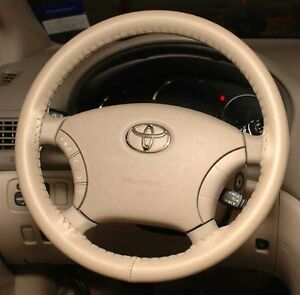 SAND Genuine Leather Steering Wheel Cover for Toyota Wheelskins Size AXX