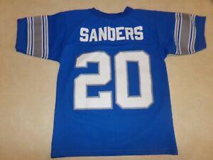 Vintage Barry Sanders #20 Detroit Lions Jersey Logo 7 Size Kids 8 Made in USA