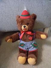 """18"""" Vtg German Ich Liebe Dich I love You Lederhosen Oktoberfest Teddy Bear Plush"""