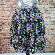 Socialite Mini Skirt Women  Size Small Floral Made In USA Black New With Tag