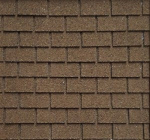 Dollhouse Miniature Roofing / Asphalt Shingles / 1:12 Scale