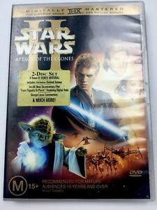 Star Wars Episode II Attack Of The Clones DVD 2002 2 DISC Set w/ Tracking