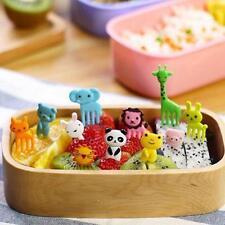 10pcs Bento Kawaii Animal Food Fruit Picks Forks Lunch Box Accessory Decor Tool