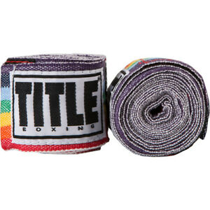 "Title Boxing 180"" Semi Elastic Mexican Handwraps - Rainbow"