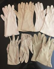5 Pairs Vintage Women's Gloves Small~Short & Medium Length~Nylon, Cotton Lot