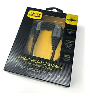 Otterbox Braided Durable Micro-USB Charge & Sync Cable / 3m / Black