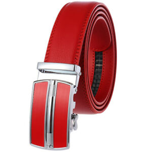 Hot Sale Men's Automatic Buckle Belt Real Leather Belt Ratchet Strap Gift Jeans