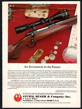 1981 RUGER M-77 M77 Rifle AD shown w/ scope Original Advertising copyright 1980