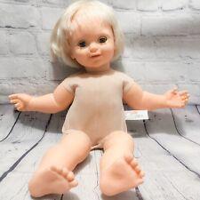 "Vtg 1985 Galoob Baby Talk 20"" Talking Doll Tested Works Talks Moves Mouth"