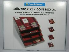 Leuchtturm Münzbox XL 6 eckige Fächer im Format 86x86 mm, rauchfarben (331319)