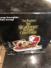 Disney Store Nightmare Before Christmas NBC Large snowglobe New WEAR ON BOX