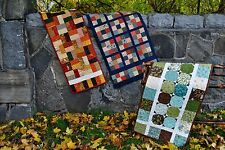Table Runner Pattern, quilted patchwork, one charm pack projects by Sweet Jane
