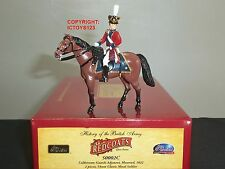BRITAINS 50002C REDCOATS COLDSTREAM GUARDS ADJUTANT MOUNTED 1822 TOY SOLDIER SET