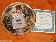Wonders to Share Plate by Sandra Kuck 2nd Sister's Love Forever Collection COA