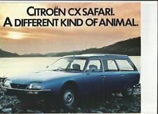 CITROEN CX SAFARI ESTATE SALES BROCHURE 1977