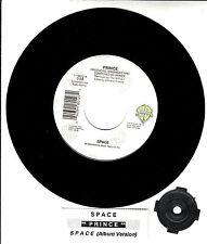 "PRINCE  Space  7"" vinyl 45 rpm record + juke box title strip RARE!"