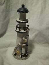Wooden & Resin Decorative Rustic LIGHTHOUSE Ornament