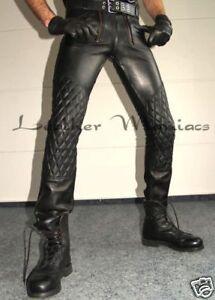 Zunfthose aus Leder Lederhose Lederjeans mit Polsterung Steppung gepolstert