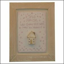 East Of India This House was clean last week Wooden Picture - Cute - Shabby Chic
