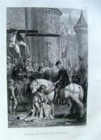 1860 DUCS BOURGOGNE XIV XV GRAVURES ROUARGUE MILITARIA LIVRE BOOK HISTOIRE
