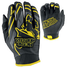 S Small Metal Mulisha Scout MX Gloves Motorbike Black Yellow Suzuki S