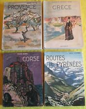 Lot de 4 livres collection Arthaud - Provence - Grèce - Route Pyrénées - Corse