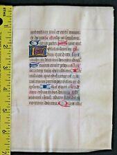 Medieval Manuscript Lf,Vellum,BoH.Gold Initials,Psalm 122,Laetatus sum,c.1460