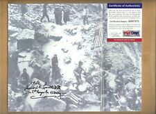 PSA/DNA Leonard Lomell Autographed 8 X 10 Picture 2nd Ranger Bn. D-day France