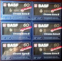 CASSETTE TAPES BLANK SEALED - 6x (six) BASF CHROME EXTRA II 60 [1989-90]