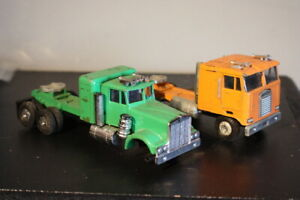 Vintage Unbranded - Hong Kong - Semi Truck Diecast Green Orange Lot