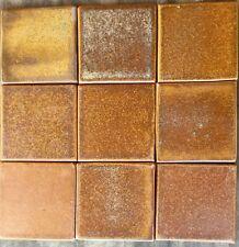 "Fulper Glaze Tiles - Copper Dust 4"" X 4"", Arts and Craft, handmade ceramic tile."