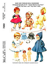 McCall's Doll's Wardrobe Doll Clothes Fabric Sewing Pattern #7592