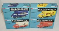 4 Corgi LE Golden Oldies Trucks Lyons, Spratts, Weetabix, Slumberland MIB