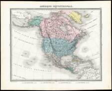 Antique Map-NORTH AMERICA-USA-CANADA-MEXICO-CARIBBEAN-Tardieu-Vuillemin-1863
