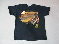 Nascar Shirt Adult Large Black UPS David Ragan Roush Racing Racer Mens 90s *