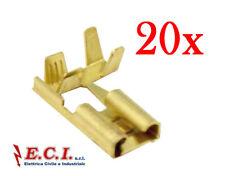 38.1000016 FASTON FEMMINA 6,3mm A BANDIERA 90° ANGOLO  ( 20 Pezzi )