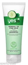 Yes To Cucumbers Organic Volumising Thickening SHAMPOO Normal To Fine Hair 280ml