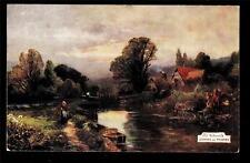 Tuck artist signed Old Watermills Goring on Thames UK postcard